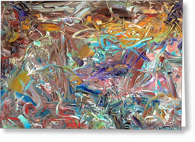 Best Sellers -  - Abstract Expressionist Greeting Cards - Paint number46 Greeting Card by James W Johnson