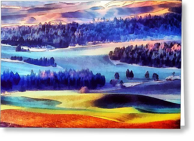 Mario Carini Greeting Cards - Paint the Jolly Hills Greeting Card by Mario Carini