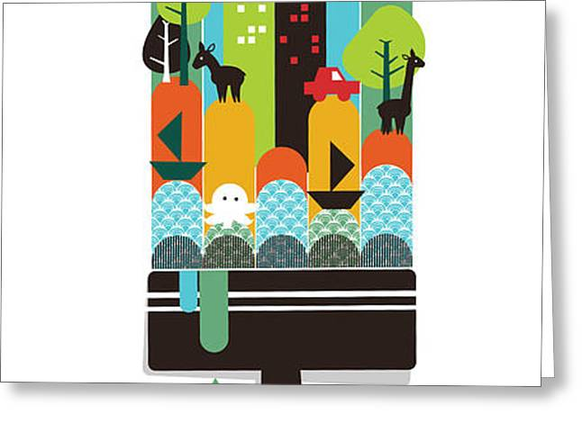 Paint Your World Greeting Card by Budi Kwan