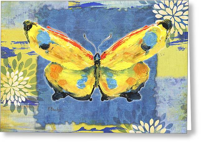 Abstract Nature Greeting Cards - Paintbrush Butterfly II Greeting Card by Paul Brent