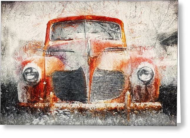 Painted 1940 Desoto Deluxe Greeting Card by Scott Norris