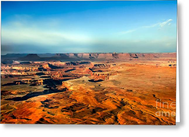 Primitive Desert Greeting Cards - Painted Canyonland Greeting Card by Robert Bales