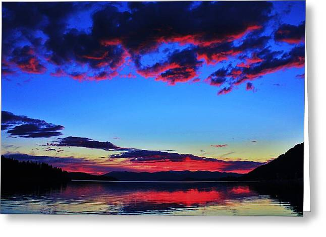 Pnw Greeting Cards - Painted Clouds Greeting Card by Benjamin Yeager