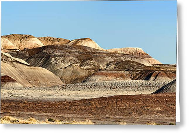 Paint Photograph Greeting Cards - Painted Desert Hills Page 1 of 5 Greeting Card by Gregory Scott