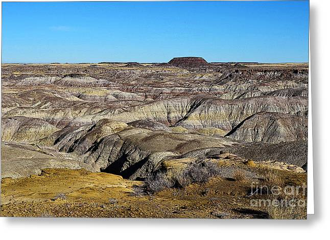 Painted Desert In Petrified Forest National Park Poster Edges Greeting Card by Shawn O'Brien