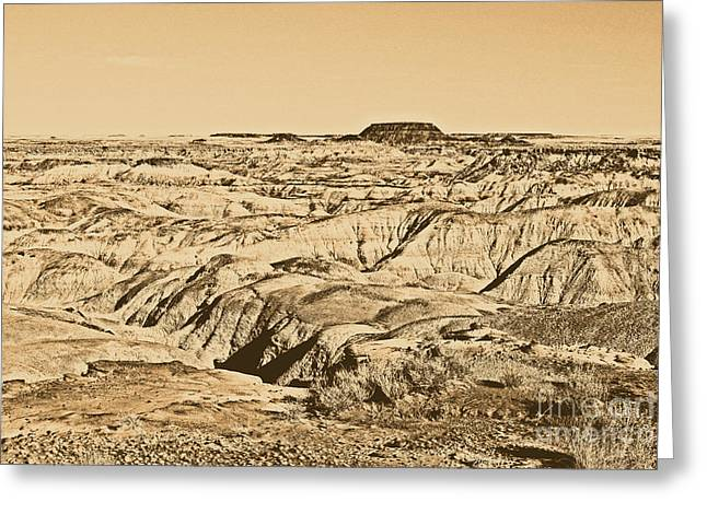 Rustic Digital Greeting Cards - Painted Desert in Petrified Forest National Park Rustic Greeting Card by Shawn O