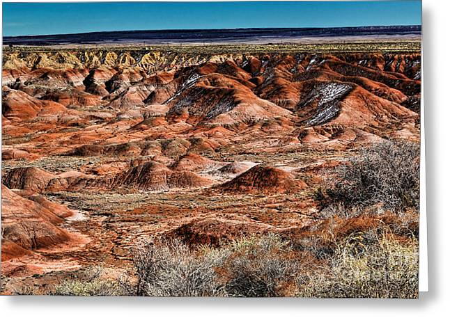 Arizona Greeting Cards - Painted Desert in Winter Greeting Card by Jon Burch Photography