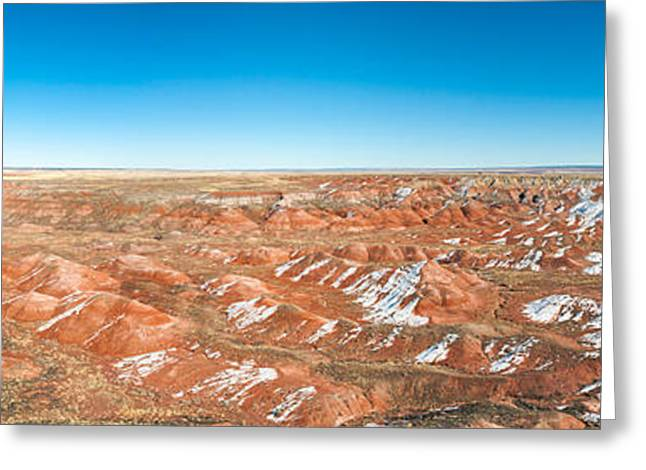 Petrified Forest Arizona Greeting Cards - Painted Desert, Petrified Forest Greeting Card by Panoramic Images