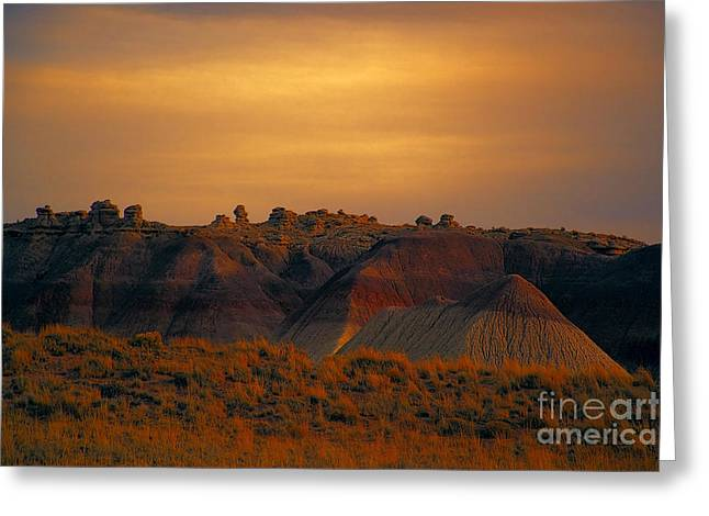 Petrified Forest National Park Greeting Cards - Painted Desert V4 Greeting Card by Douglas Barnard