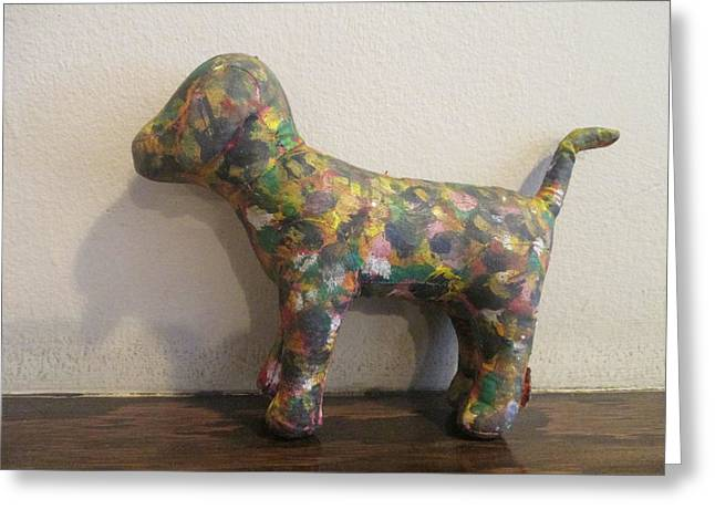 Toy Dogs Mixed Media Greeting Cards - Painted Dog  Greeting Card by David Lovins