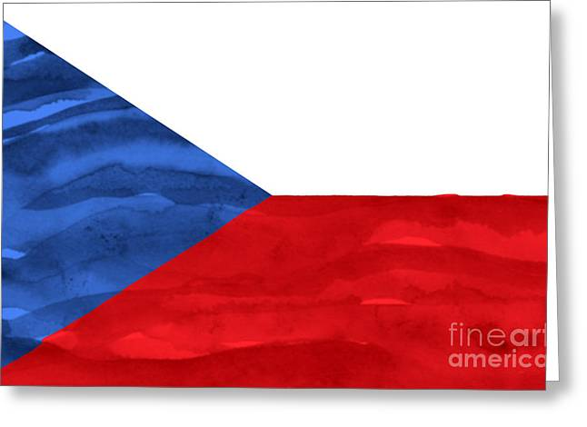 Czech Flag Greeting Cards - Painted flag of Czech Republic Greeting Card by Aleksandar Mijatovic