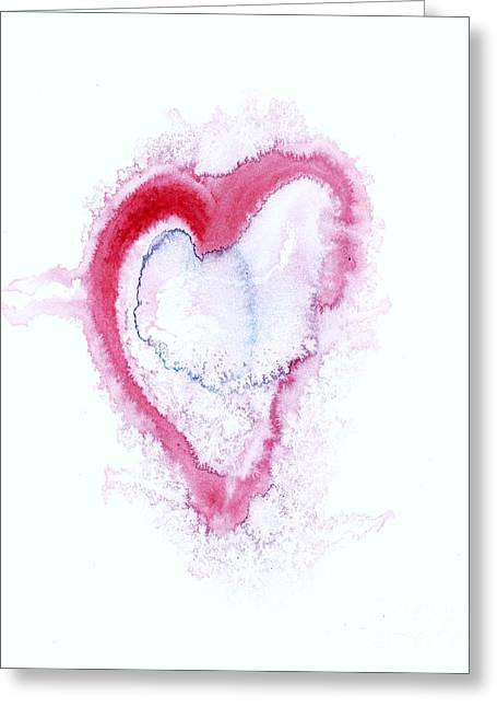 Cherish Greeting Cards - Painted Heart - Symbol Of Love Greeting Card by Michal Boubin
