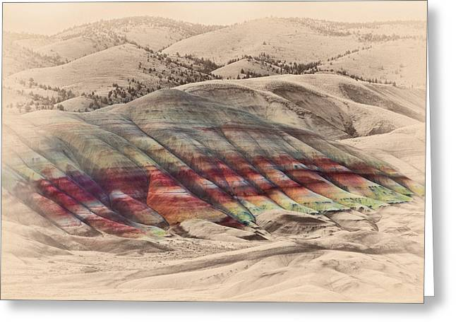 Crossover Greeting Cards - Painted Hills 2 Greeting Card by Don Hall