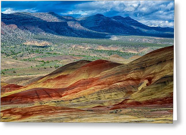 Geology Photographs Greeting Cards - Painted Hills I Greeting Card by Robert Bynum