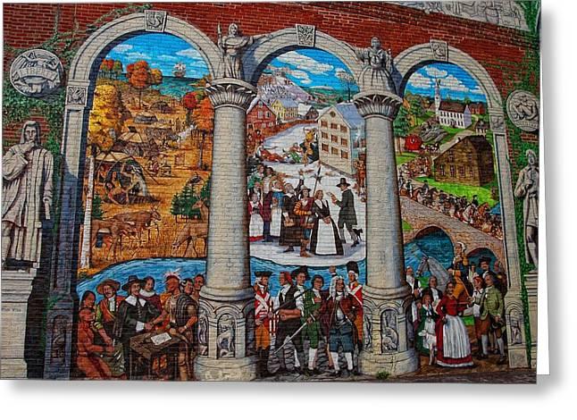 Painted History 2 Greeting Card by Joann Vitali