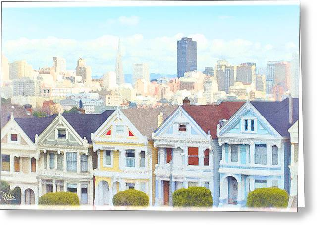 Invasion Of The Body Snatchers Greeting Cards - Painted Ladies Alamo Square San Francisco Greeting Card by Douglas MooreZart