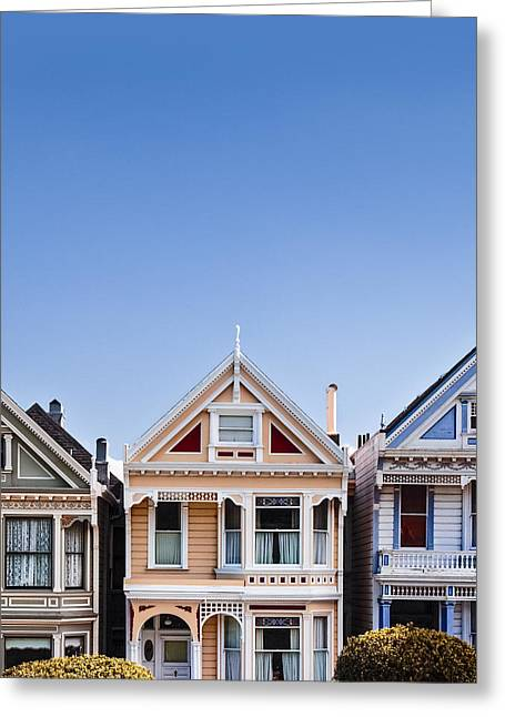 Painted Ladies Greeting Card by Dave Bowman