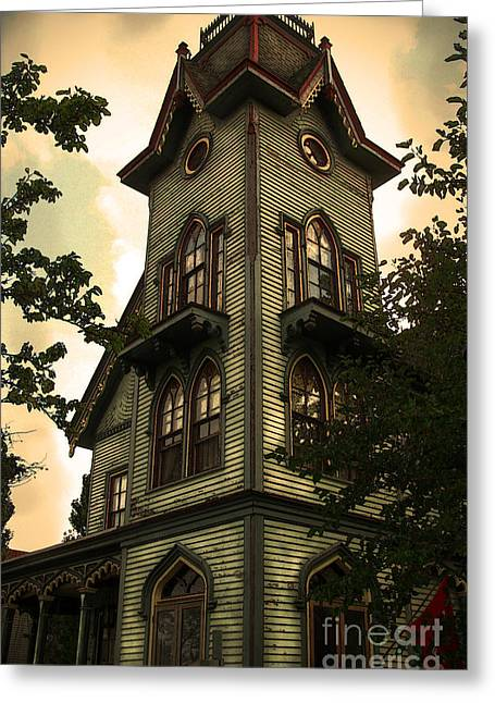 Houses Bed And Breakfast Greeting Cards - Painted Lady 25  Greeting Card by Colleen Kammerer