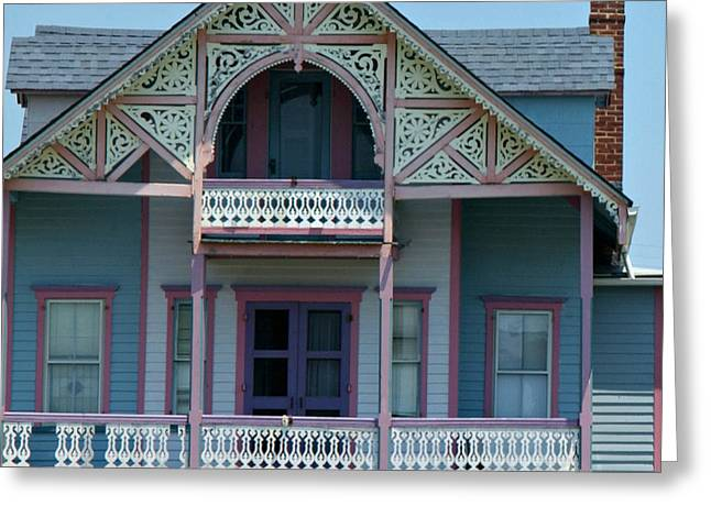 Painted Lady in Ocean Grove NJ Greeting Card by Anna Lisa Yoder