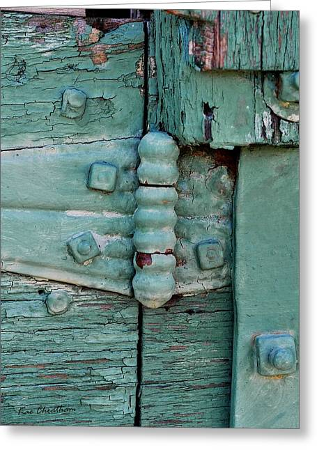 Kae Cheatham Greeting Cards - Painted Metal and Wood Greeting Card by Kae Cheatham