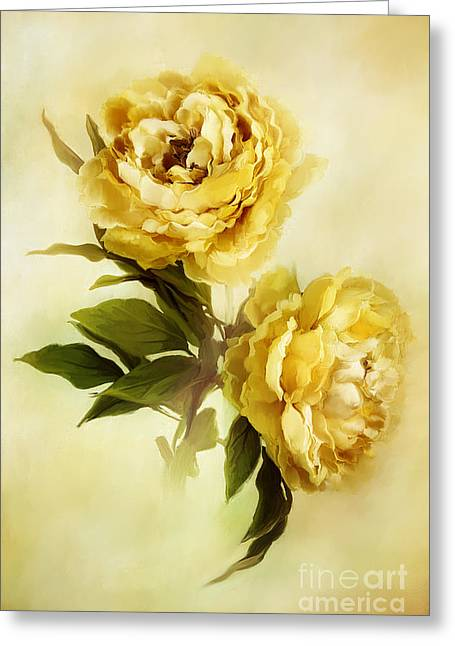 Modern Photographs Greeting Cards - Painted Peonies Greeting Card by Stephanie Frey