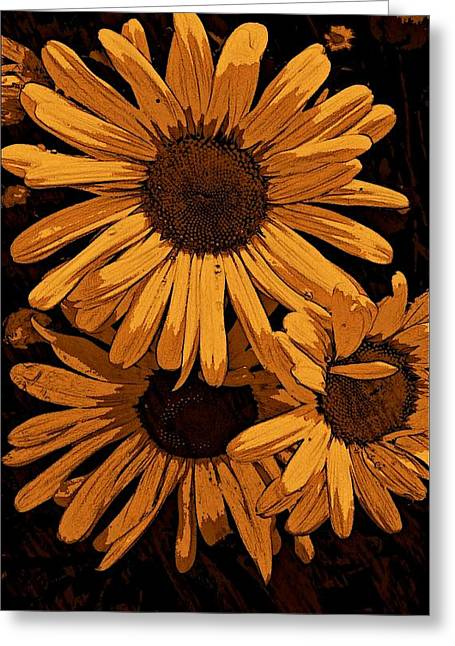 Painted Details Drawings Greeting Cards - Painted Petals Greeting Card by Constance Carlsen