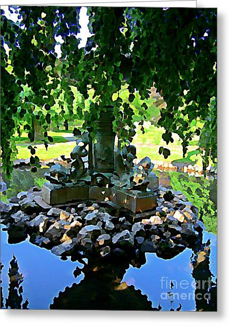 Halifax Photographs Greeting Cards - Painted Pond Halifax Public Gardens Greeting Card by John Malone