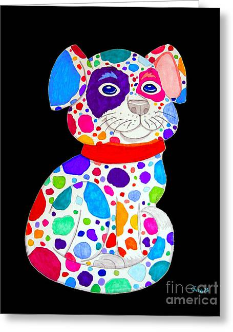 Painted Puppies Drawings Greeting Cards - Painted Pooch 2 Greeting Card by Nick Gustafson