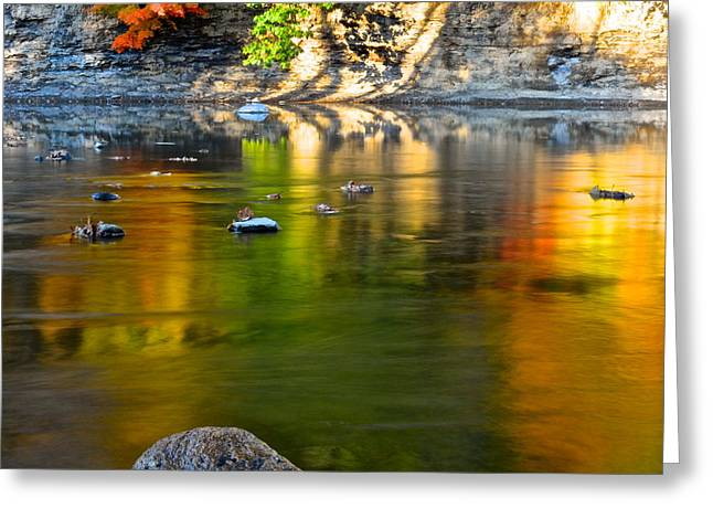 Paint Photograph Greeting Cards - Painted River Greeting Card by Frozen in Time Fine Art Photography
