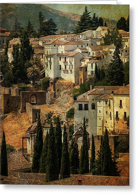 Painted Ronda. Spain Greeting Card by Jenny Rainbow