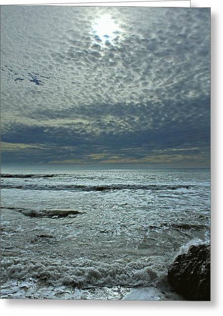 Agate Beach Greeting Cards - Painted Sky Bolinas Ca D3A6136 Greeting Card by Ed  Cooper Photography