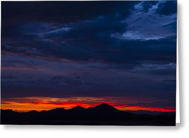 Arizona Lightning Greeting Cards - Painted Sky Greeting Card by Cathy Franklin
