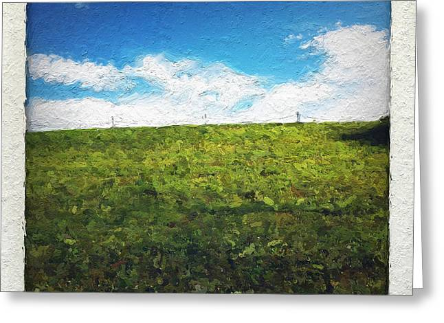 Field Mixed Media Greeting Cards - Painted Sky Greeting Card by Linda Woods