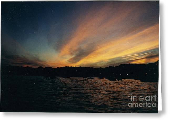 Painted Sunrise Over The Long Island Sound Greeting Card by John Telfer