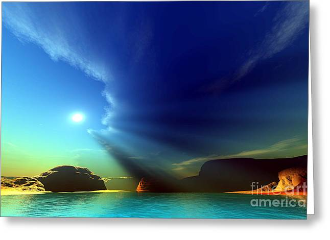 Beam Of Light Greeting Cards - Painted Veil Greeting Card by Corey Ford