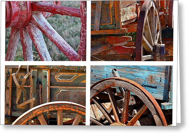 """square Art"" Photographs Greeting Cards - Painted Wagons Greeting Card by Art Block Collections"
