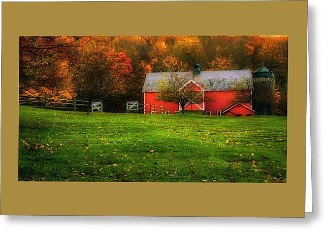 Autumn Dreams - Dorset Vermont Greeting Card by Thomas Schoeller