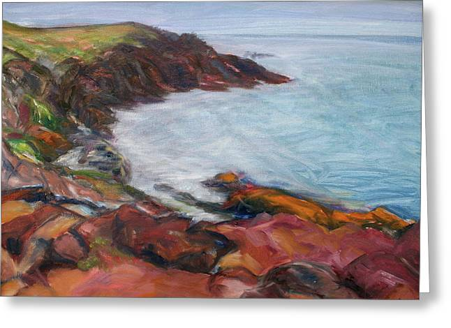 Painterly - Bold Seascape Greeting Card by Quin Sweetman