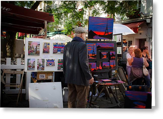 Vintage Painter Greeting Cards - Painters at Montmartre - Paris Greeting Card by Dany  Lison