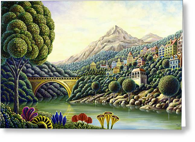 Mythical Landscape Greeting Cards - Painters Creek 2 Greeting Card by Andy Russell