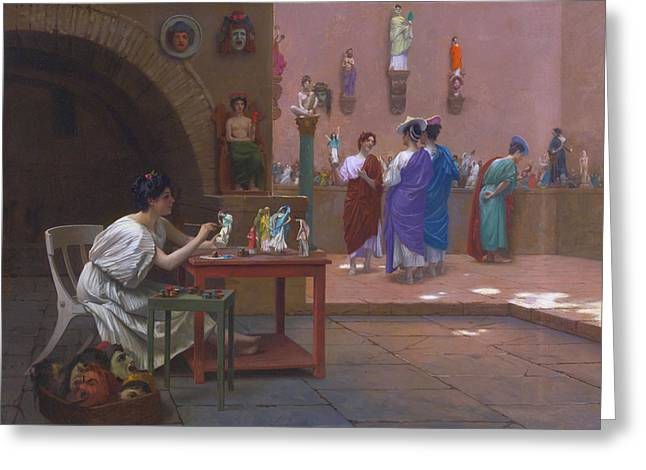 Painting Breathes Life Into Sculpture Greeting Card by Jean-Leon Gerome