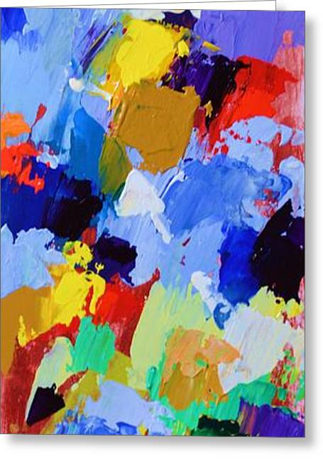 Abstract Expressionist Greeting Cards - My High Tower and My Deliverer - Psalm 144 2 - Abstract Expressionist Painting Greeting Card by Philip Jones