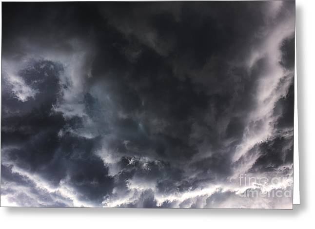 Severe Weather Greeting Cards - Painting in the sky Greeting Card by Francis Lavigne-Theriault