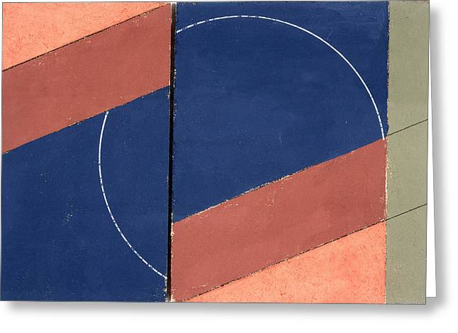 Abstract Shapes Greeting Cards - Painting - Interrupted Circle, 2000 Oil On Board Greeting Card by George Dannatt