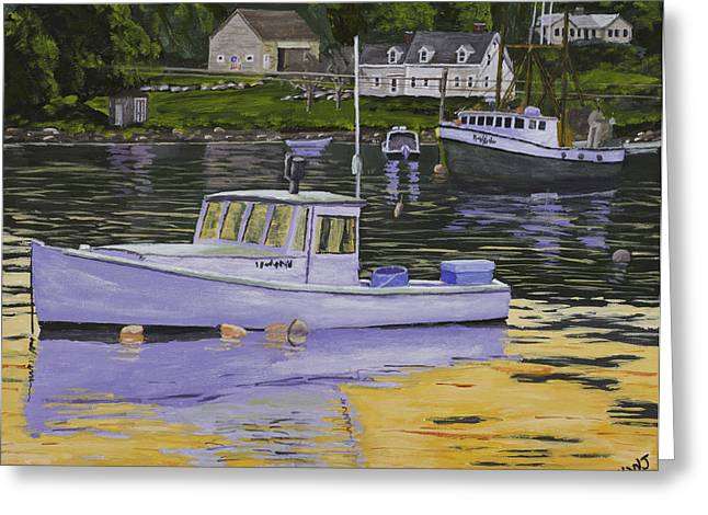 Downeast Greeting Cards - Fishing Boats in Port Clyde Maine Greeting Card by Keith Webber Jr