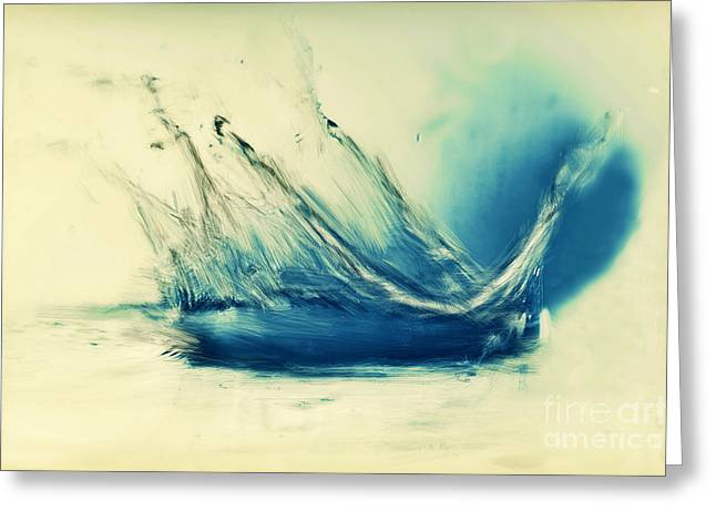 Painting Of Fresh Water Splash Greeting Card by Michal Bednarek
