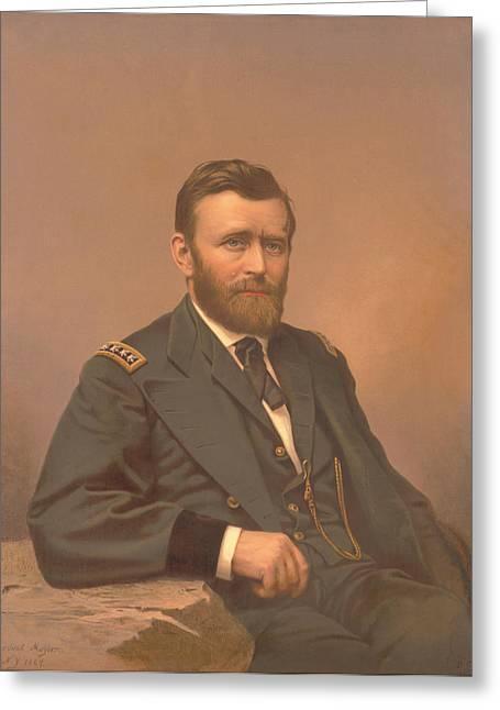 Painting Of Lieutenant General Ulysses Greeting Card by Stocktrek Images