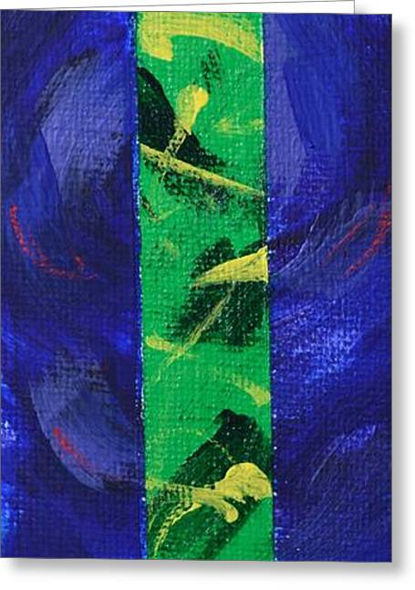 Abstract Expressionist Greeting Cards - God is Love - 1 John 4 8 - Abstract Expressionist Painting Greeting Card by Philip Jones