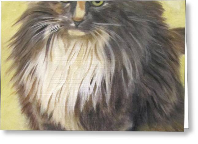 Painting of Shelby Greeting Card by Sharon Burger