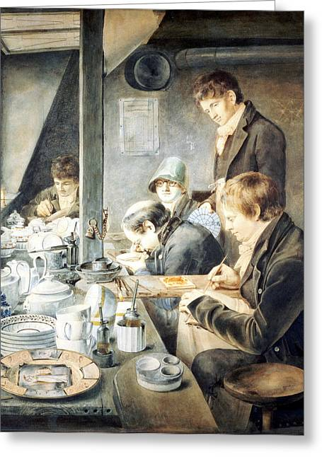 Apprentice Greeting Cards - Painting Room Of Mr. Baxter, No. 1 Greeting Card by Thomas Baxter